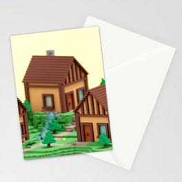 voxel hamlet Stationery Cards