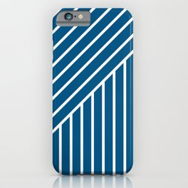 Slant And Down-Blue iPhone Case
