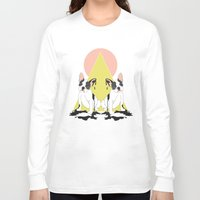 pugs Long Sleeve T-shirts featuring Pugs by Anna McKay