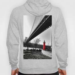 The Little Red Lighthouse - George Washington Bridge NYC Hoody