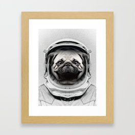 Puggly Pawstrong Astro Dog Framed Art Print