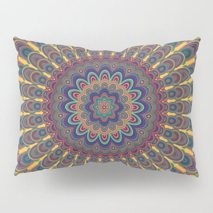 Bohemian oval mandala Pillow Sham