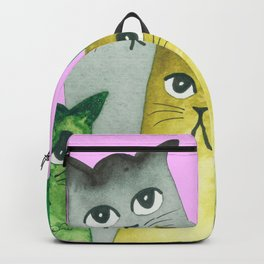 Baton Rouge Whimsical Cats Backpack