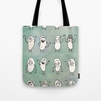 kids Tote Bags featuring Kids by Tominnes