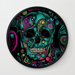 Skull Camouflage Wall Clock