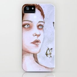 Tears and butterflies iPhone Case
