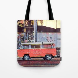 Vdub at sunset Tote Bag