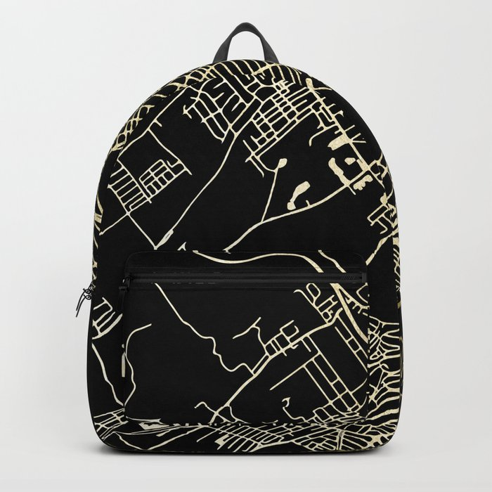 Wilkes-Barre Gold and Black Map Backpack