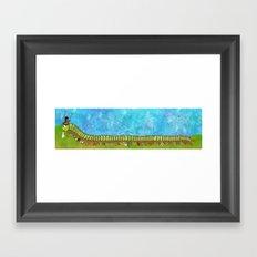 Caterpillar Shoe Fetish Framed Art Print