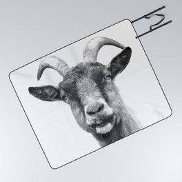 Black and White Goat Picnic Blanket