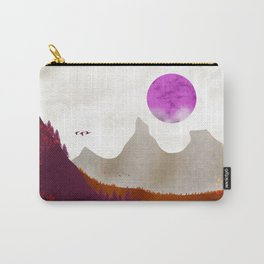 Between colorful mountains #landscape #purple #drawing Carry-All Pouch