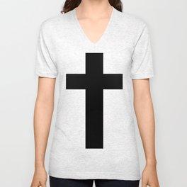 Cross (Faithful) Unisex V-Neck