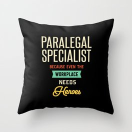 Paralegal Specialist Throw Pillow
