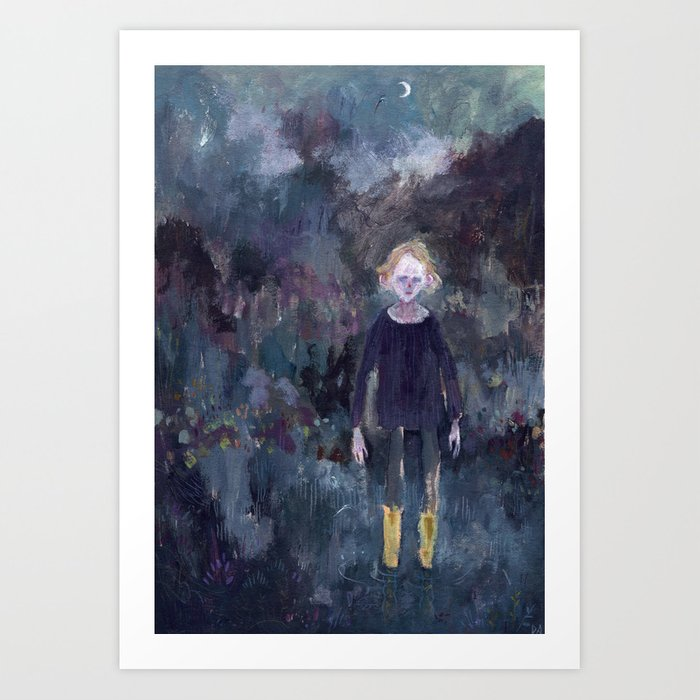 The Boy in the Yellow Boots Art Print