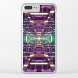 Aqua and Purple Tunnel Clear iPhone Case