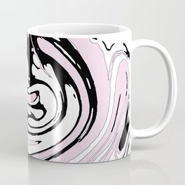 Black, White and Pink Graphic Paint Swirl Pattern Effect Coffee Mug