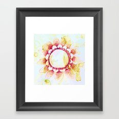 tea flower Framed Art Print