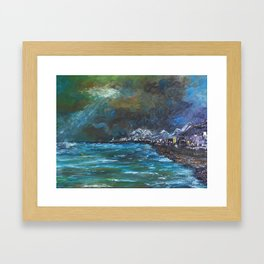 Light beyond the Storm Framed Art Print