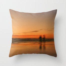 orange sunsets Throw Pillow