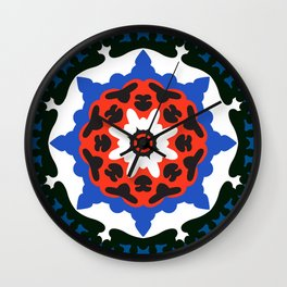 Bold and bright beauty of suzani patterns ver.7 Wall Clock