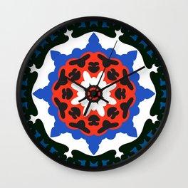 Bold and bright beauty of suzani patterns ver.7 Wall Clock