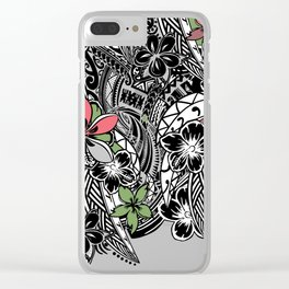 Polynesian Flora Touch Of Color Clear iPhone Case