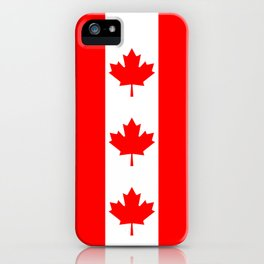 Canadian National flag, Authentic color and 3:5 scale version iPhone Case