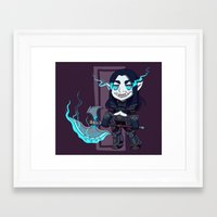 warcraft Framed Art Prints featuring littlest death knight by fitze fitcher