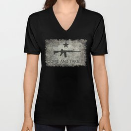 Come and Take it Flag with AR-15 Unisex V-Neck