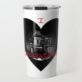 I love Hauntober haunted house Travel Mug