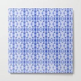 Sapphire Blue Print Metal Print