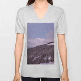 Purple Moutain Mont Blanc Unisex V-Neck
