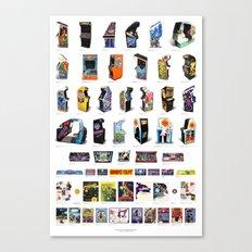 Arcade Art Canvas Print