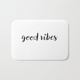 Good Vibes Drawing Bath Mat