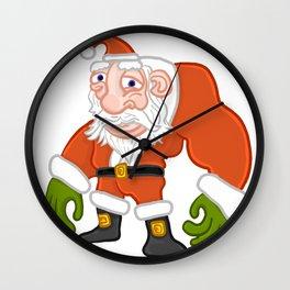 Buff Santa Wall Clock