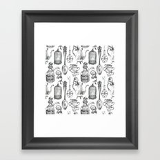 Alice Encounters Framed Art Print