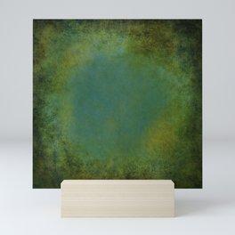 Shades of Green Texture Mini Art Print