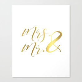 Mr Mrs Love Prints. Wedding Art Prints. Real Gold or Silver Foil Print. His and Hers Wall Art. Canvas Print