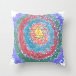 Be Like Water Sri Yantra Throw Pillow
