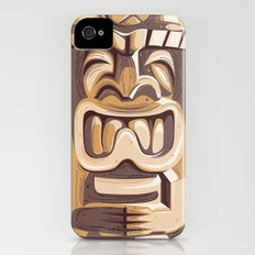 Happy Tiki Slim Case iPhone (4, 4s)