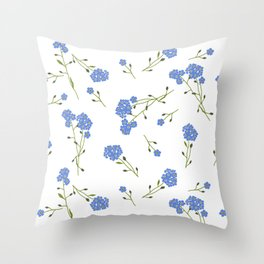 Forget me not II Throw Pillow