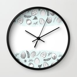 easter background Wall Clock
