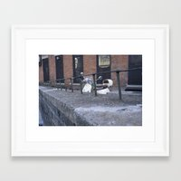 motorcycle Framed Art Prints featuring motorcycle by Katie Giustiniani