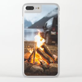 Around a Campfire Clear iPhone Case