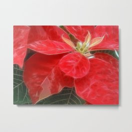 Mottled Red Poinsettia 1 Ephemeral Metal Print