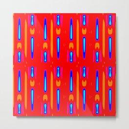 Popping Op Art Red Yellow Blue Metal Print
