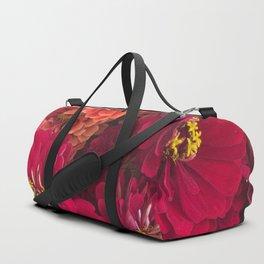 Pink Zinnias Duffle Bag