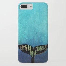 Empty the Tanks - A Pledge for Orcas iPhone Case