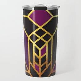 Art Deco Leaving A Puzzle In Purple Travel Mug