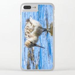 Black Necked Stilt Chick Clear iPhone Case